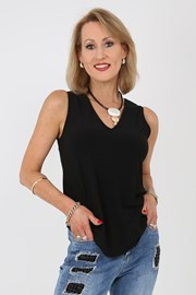 CAMI V NECK KIEV - black