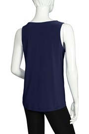 CAMI V NECK KIEV - navy