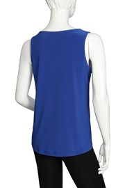 CAMI V NECK KIEV - cornflower