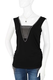 TOP CARLY 405527 - black silver