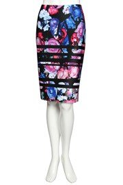 SKIRT ELLE - floral temple black