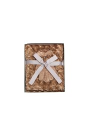GIFT BOX SET - SCARF AND GLOVES - taupe
