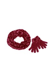 GIFT BOX SET - SCARF AND GLOVES - rose