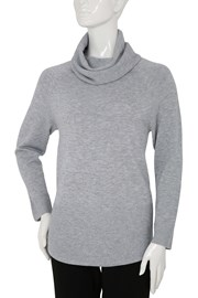 JUMPER ROLL NECK NATASHA - silver