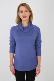 JUMPER ROLL NECK NATASHA - cornflower