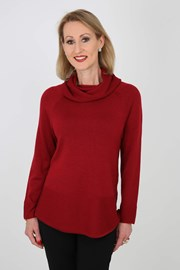 JUMPER ROLL NECK NATASHA - ruby